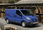 NISSAN Primastar dCi115, rok produkcji 2007, furgon, widok przedni prawy, kolor niebieski jasny