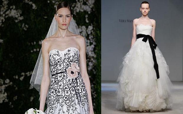 a4243effad Biało - czarne suknie ślubne z kolekcji wiosna 2012