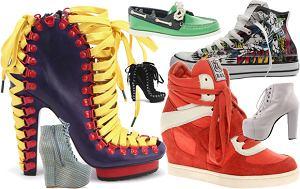 Buty ze sznurówkami, sznurowane buty, wi�zane obuwie damskie