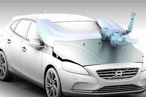 Volvo V40 - poduszka powietrzna dla pieszego | Wideo