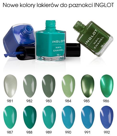Nowe kolory lakier�w do paznokci Inglot - marzec 2012