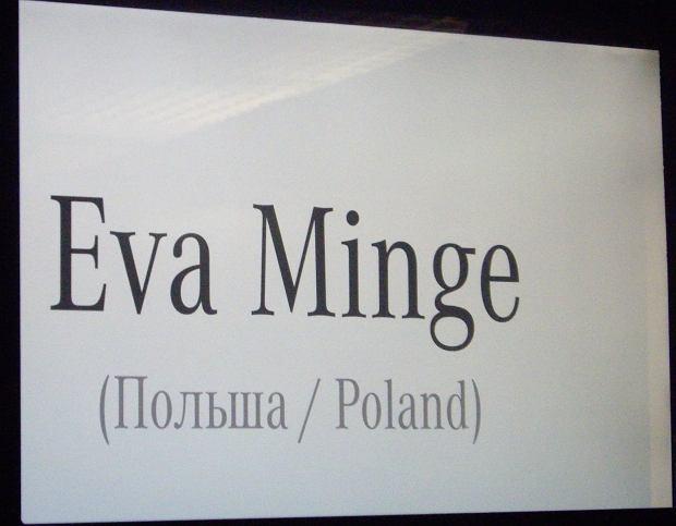 Ewa Minge w Moskwie