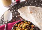 Chapati z warzywnym curry