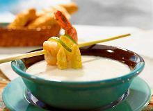 Zupa szparagowa z krewetkami - ugotuj