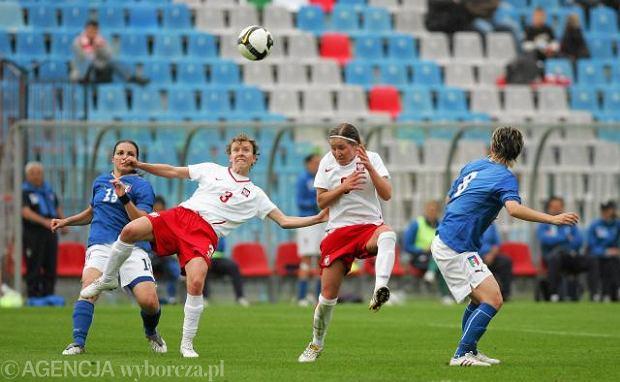 Marta Stobba (nr 3) w meczu reprezentacji Polski