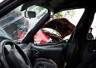 Na A2 dachowało BMW. Po wypadku i karambolu trasa zablokowana w kierunku Świecka