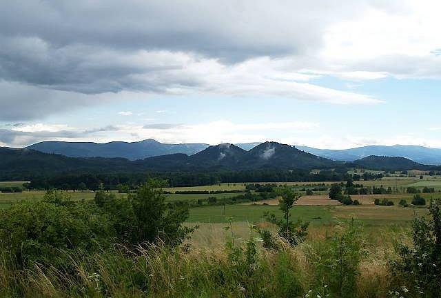 Panorama Gór Sokolich i Karkonoszy