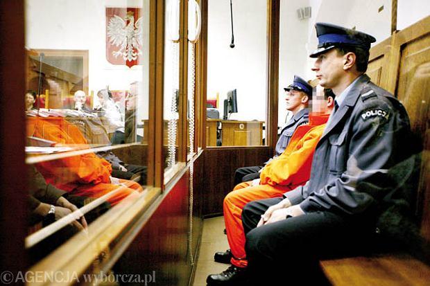 02.03.2009 ZIELONA GORA PLAC SLOWIANSKI , SAD , ROZPRAWA , MORDESTWO , SERBY  FOT. AGNIESZKA WOCAL / AGENCJA GAZETA