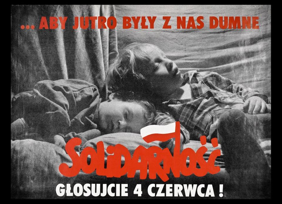 Plakat zachęcający do głosowania w wyborach 4 czerwca 1989 r.