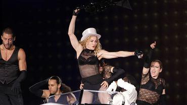Madonna podczas występu na Bemowie
