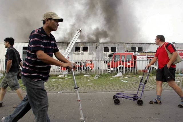 Pożar tego samego chińskiego centrum handlowego w Wólce Kosowskiej koło Warszawy w 2009 roku.