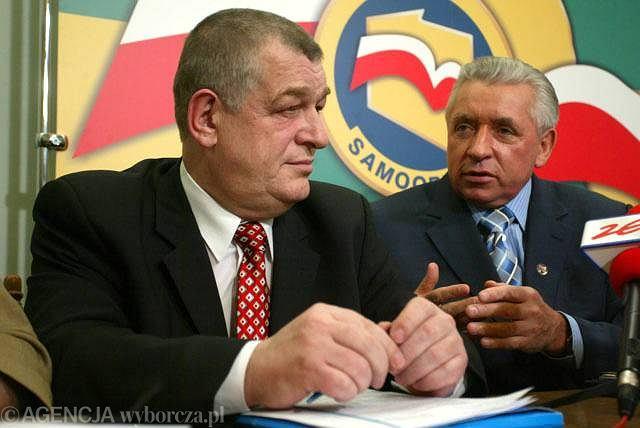 Stanisław Łyżwiński i Andrzej Lepper