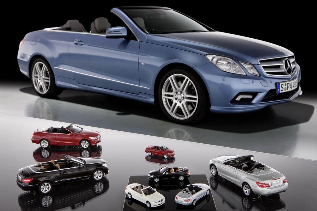 Mercedes klasy E w skali 1:84, 1:43 i 1:18
