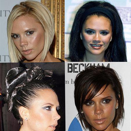 W kt�rej fryzurze Victoria Beckham wyglada najlepiej?
