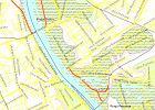 Na mapie zaznaczono tereny zalewowe podczas powodzi 20-letniej (statystycznie zdarza si� raz na 20 lat), stuletniej i tysi�cletniej. W najgorszym scenariuszu zalewana jest niemal ca�a Praga, a tak�e Solec, Powi�le, Wilan�w. Bezpieczne s� oczywi�cie tereny po�o�one powy�ej Skarpy Wi�lanej.
