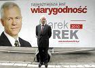 Kandydat na prezydenta Marek Jurek zaprezentowa� has�o swojej kampanii wyborczej