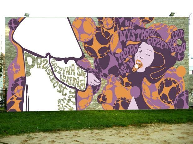 Powstaje mural z papie em stylistyka lat 60 tych for Mural ursynow