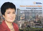 Plakat wyborczy Hanny Gronkiewicz-Waltz i okładka jej mapy