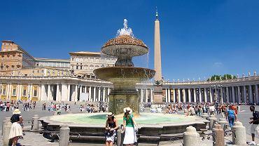 Rzym, Watykan, Fontanna Czterech Papieży