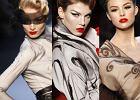 Modne fryzury z minionych epok na pokazie Diora