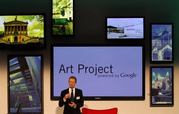 Tate Britain gallery director Nicholas Serota speaks during the launch of the Google's Art Project website in London February 1, 2011. Google aims to bring the world's great art galleries into the home with a new website that offers virtual tours, the ability to build a private collection of masterpieces and ultra-high resolution images. REUTERS/Stefan Wermuth