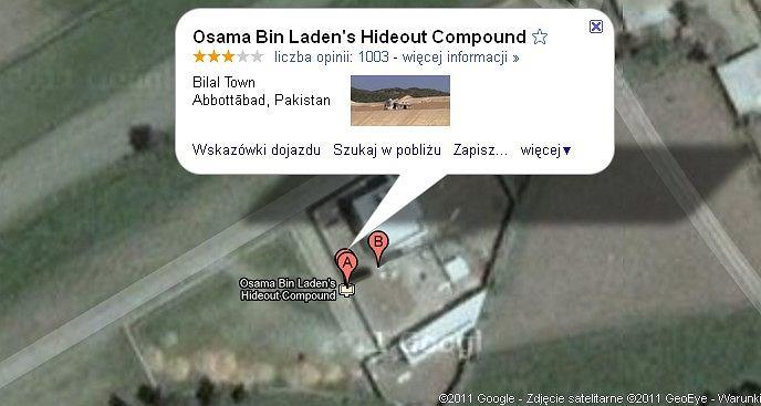 Każdy może zobaczyć, gdzie krył się Osama