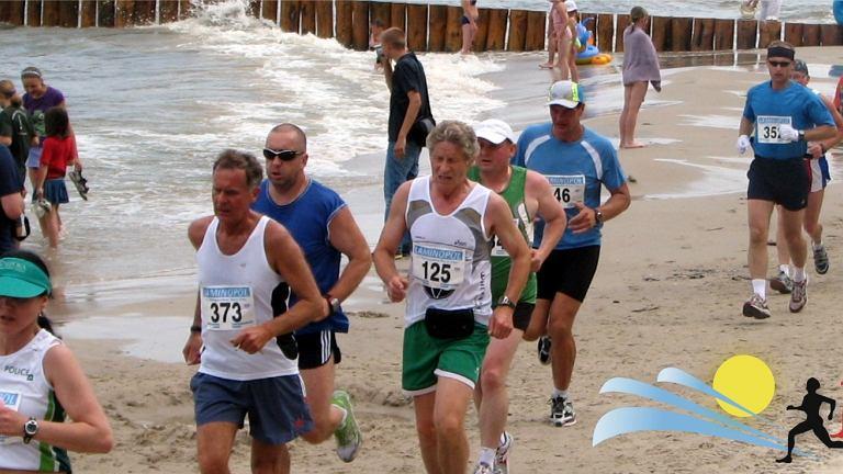Bieg po plaży w Jarosławcu