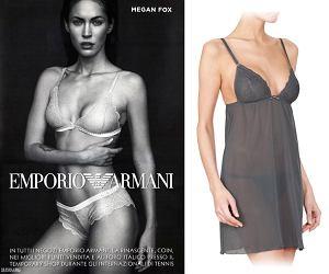 Megan Fox dla Emporio Armani Underwear, emporio armani, bielizna, megan fox, majtki, gwiazdy, wiedo, biustonosz, homewear