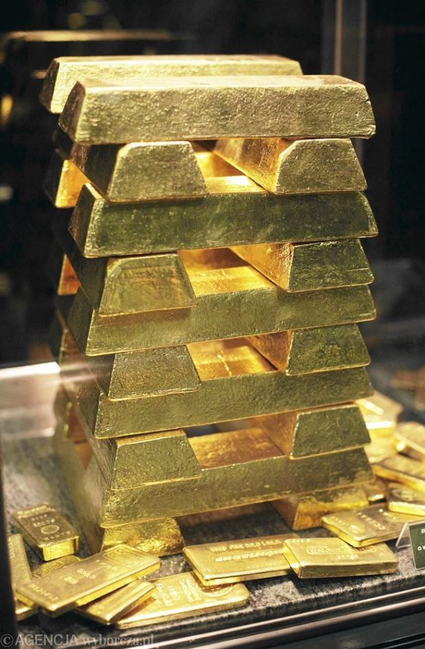 Sztabki złota w NBP