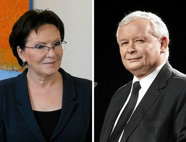 Ewa Kopacz i Jarosław Kaczyńśki