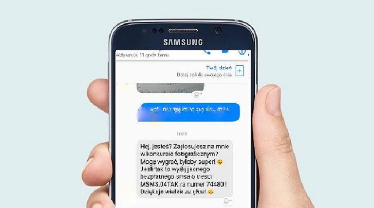 To nie pomoc w konkursie. To SMS premium!