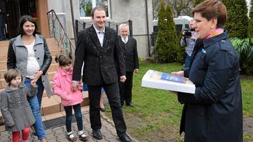 2016 rok - Beata Szydło z wizytą inaugurującą program 500 plus