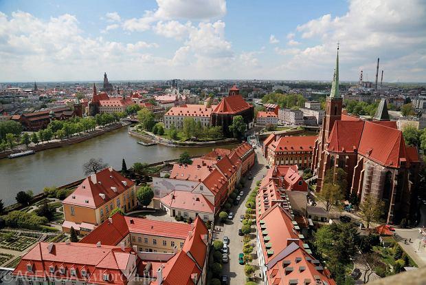 Fotografie ze 'Spacerownika': Widok z wieży katedry/ Wrocław