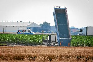 Odpady z salmonell� wyrzucali wprost na pole