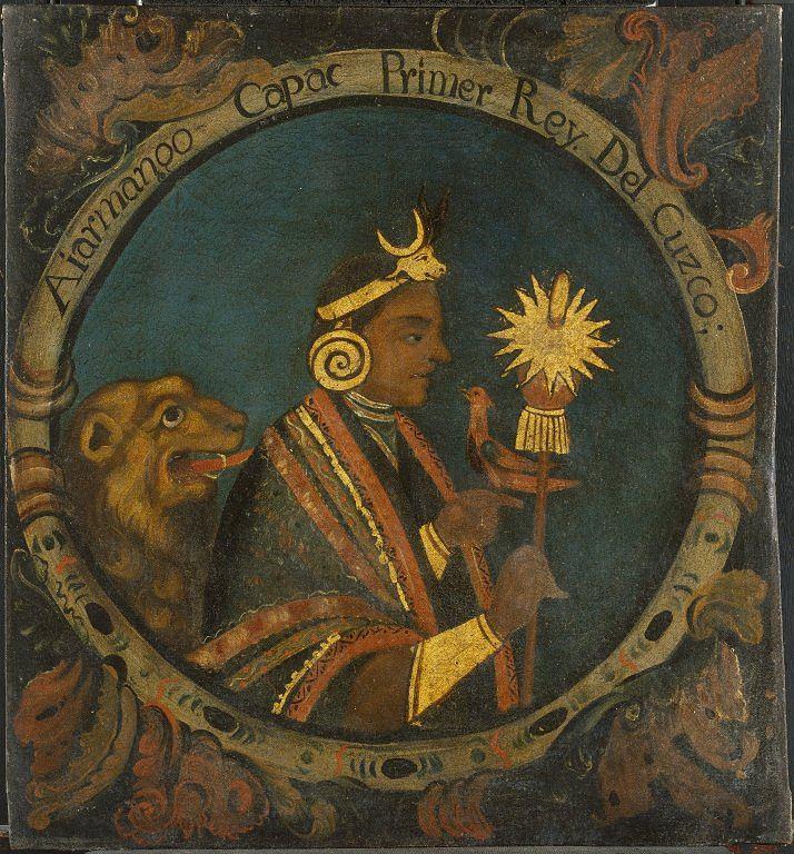 Manco Capac, pierwszy Inka. Obraz olejny z połowy XVIII wieku