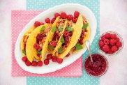 Tacos z wieprzowin� i d�emem malinowym