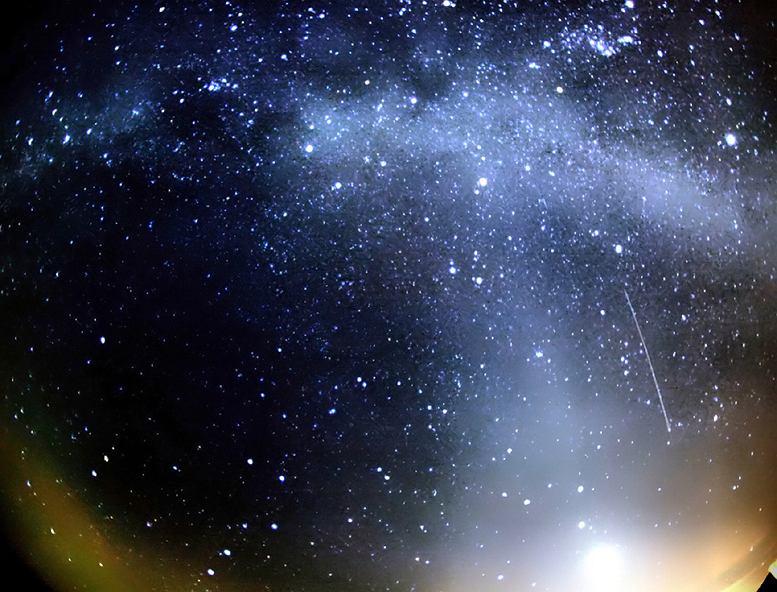 Orionidy. Zdjęcie ilustracyjne