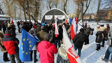 Manifestacja KOD w Brzeszczach