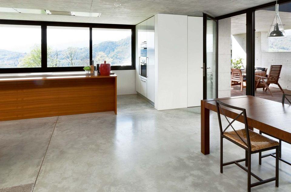 Podłoga w kuchni - beton