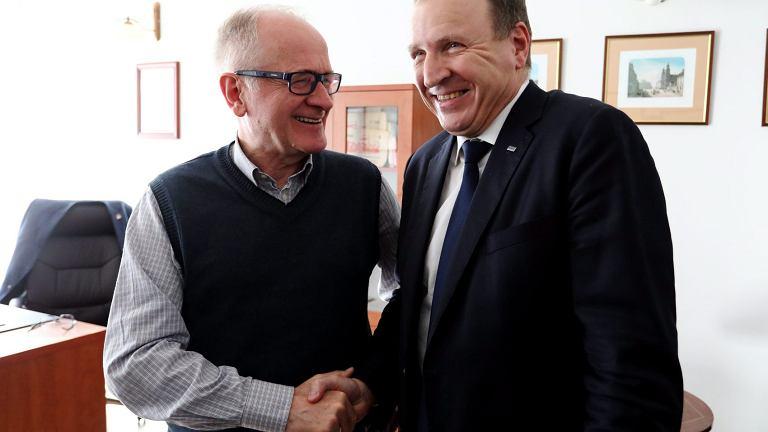 Rada Mediów Narodowych. Przewodniczący Rady Krzysztof Czabański i Prezes TVP Jacek Kurski