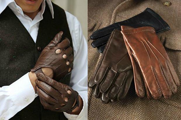 98fa84d377 Skórzane rękawiczki męskie  modny dodatek do zimowych stylizacji