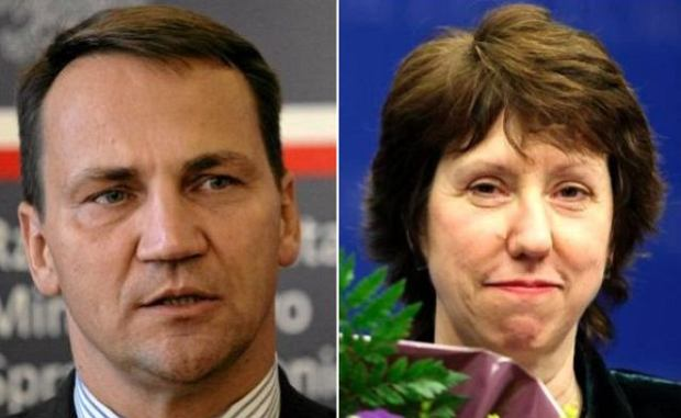 Rados�aw Sikorski i Catherine Ashton