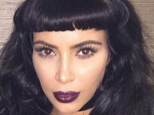 Kim Kardashian w grzywce i bez. Jak wygl�da lepiej?