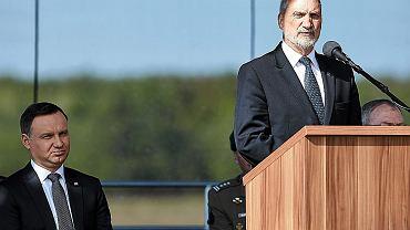 Andrzej Duda i Antoni Macierewicz na symbolicznej inauguracji budowy bazy w ramach amerykańskiego systemu antyrakietowego w Redzikowie
