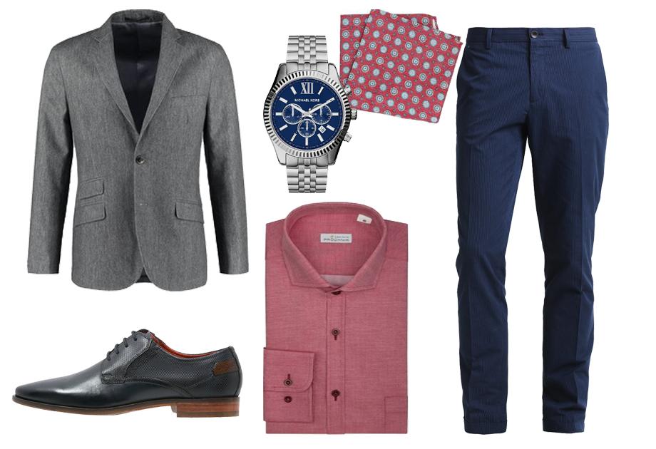 9f34c7e859 różowa koszula szara marynarka spodnie materiałowe Fot. kolaż avanti24    materiały partnerów