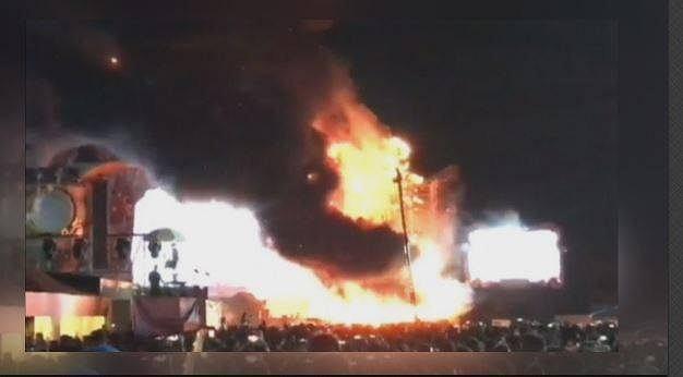 Pożar podczas koncertu w Barcelonie.