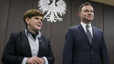 Beata Szydło i Andrzej Duda. Zdjęcie z kampanii wyborczej 2015 r.