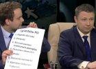 """W TVN24 rozmowa o wystąpieniu Szydło, nagle rzecznik rządu wyjmuje listę. """"Dla pana, na najbliższą spowiedź"""""""