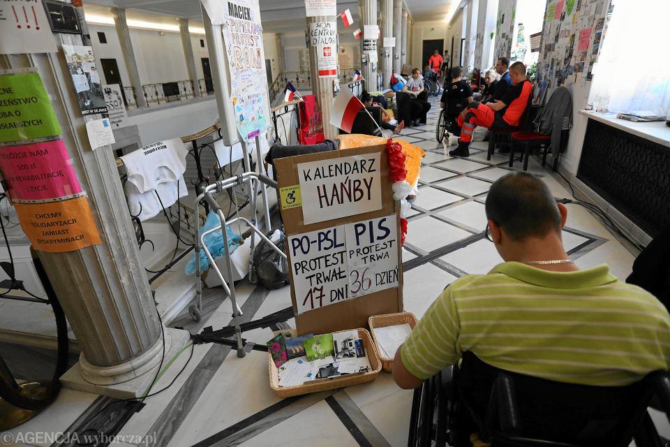 23.05.2018, Sejm, 36 dzień protestu rodziców osób niepełnosprawnych.