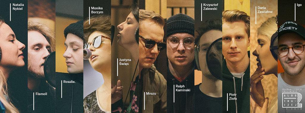 Wokalistki i wokaliści występujący na płycie 'Albo inaczej 2' / fot. materiały prasowe